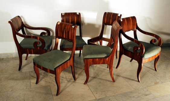 Russian or Baltic salon suit comprising one table, two armchairs and four chairs - photo 3