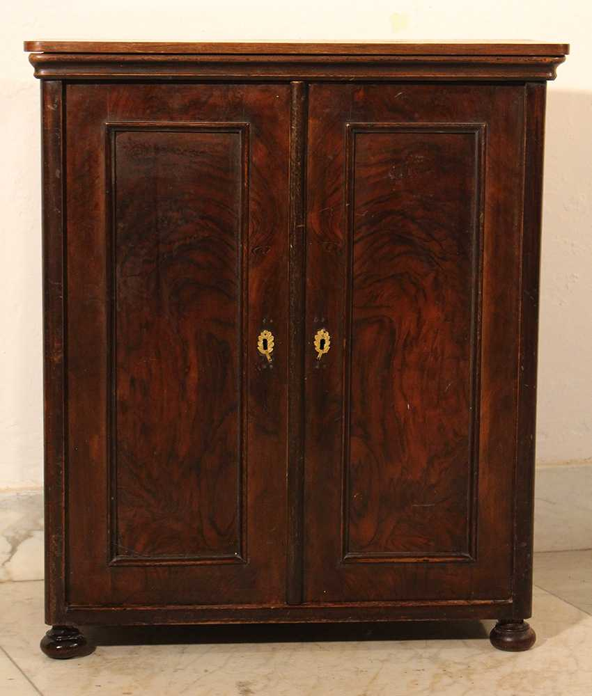 A small miniature armoire with two doors, round corners and on four feet - photo 3