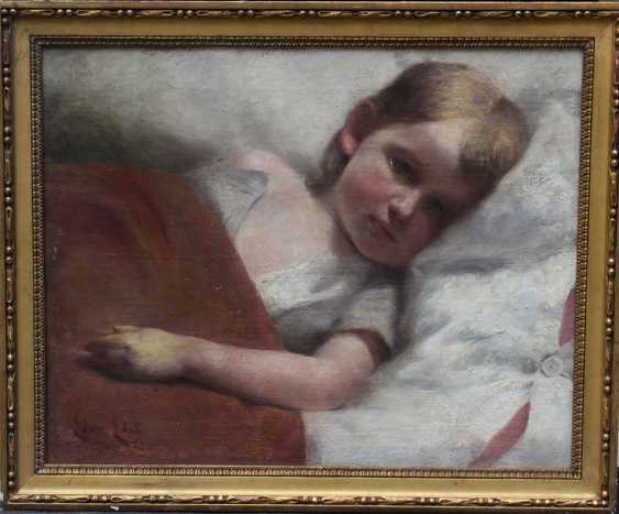 Edmund Edel (1863-1934), Portrait of a resting child - photo 1