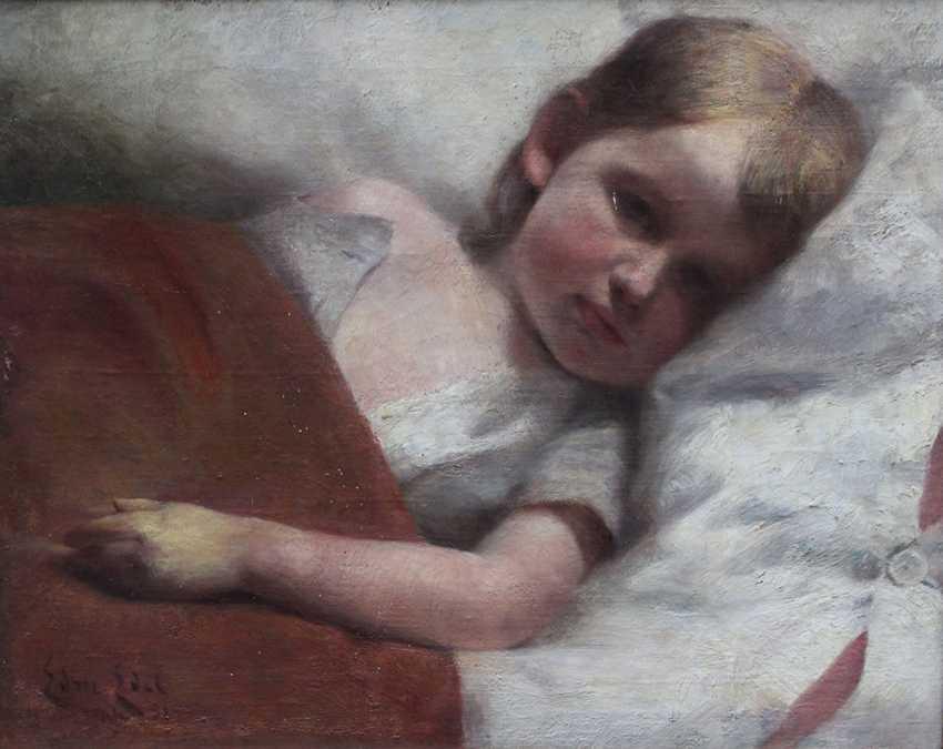 Edmund Edel (1863-1934), Portrait of a resting child - photo 2