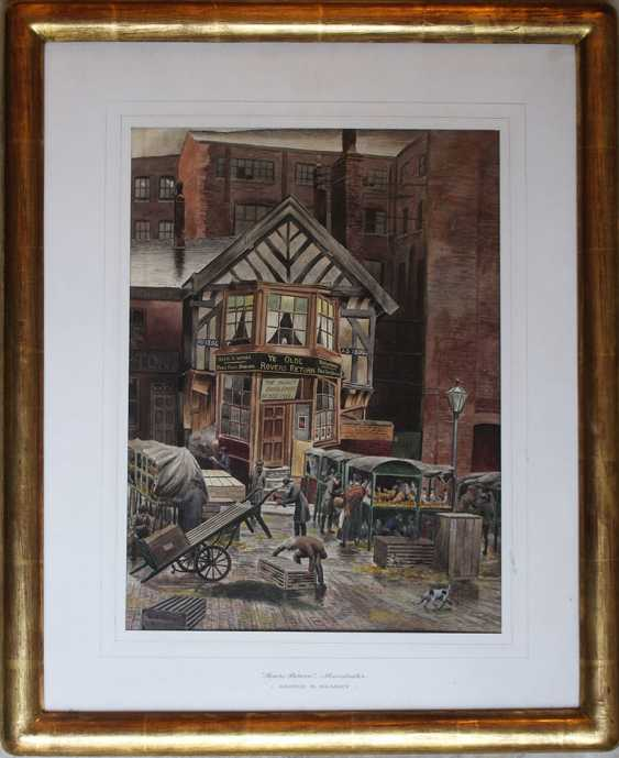 George B. Kearey, English artist early 20th Century, Rovers Return, Manchester, watercolour on paper - photo 1