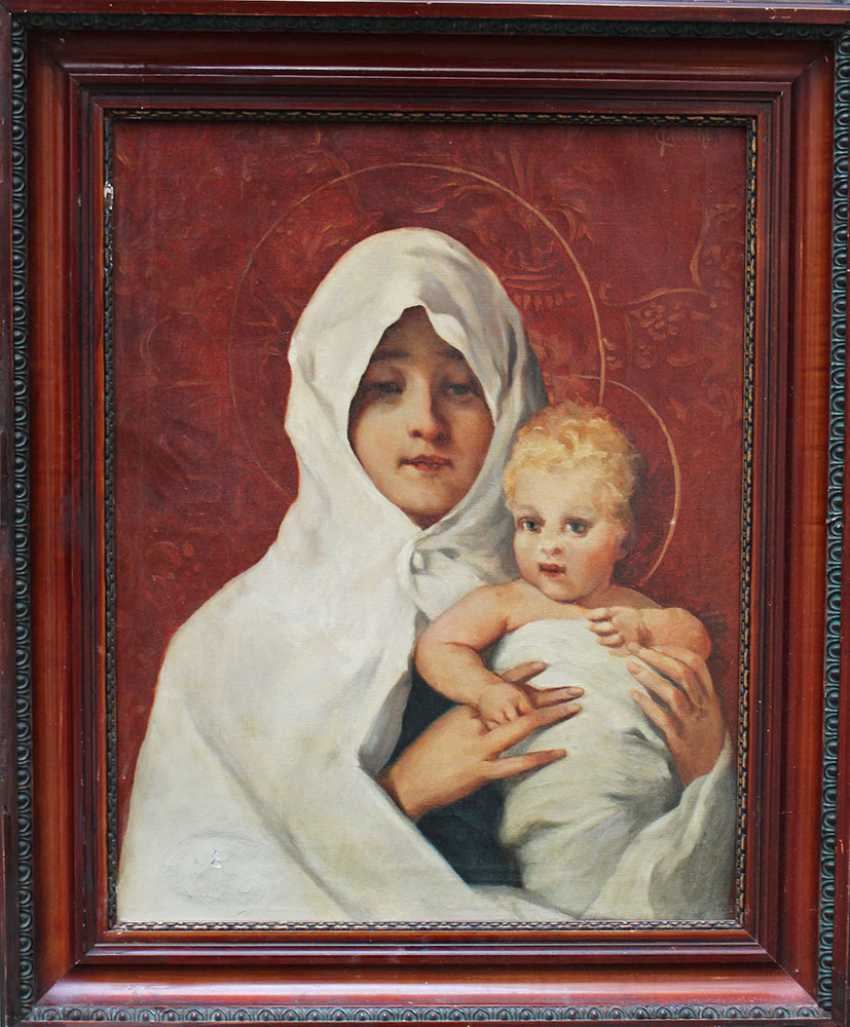 Carl Fröschl (1848-1934), Mary with Jesus - photo 1