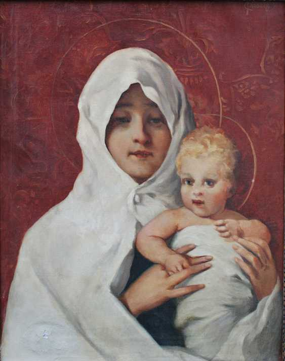 Carl Fröschl (1848-1934), Mary with Jesus - photo 2