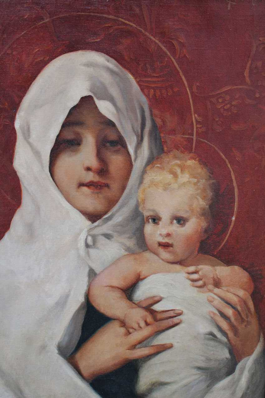 Carl Fröschl (1848-1934), Mary with Jesus - photo 3