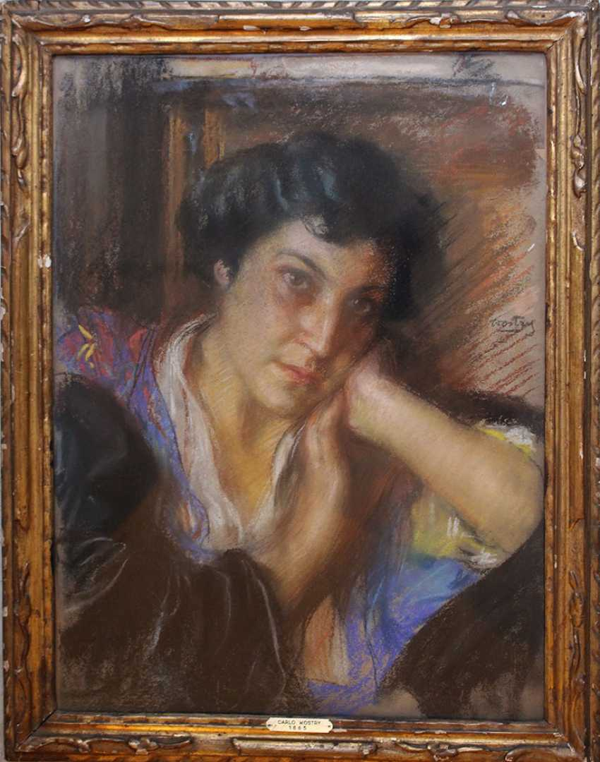 Carlo Wostry (1865-1943), Portrait of a lady, signed centre right - photo 1