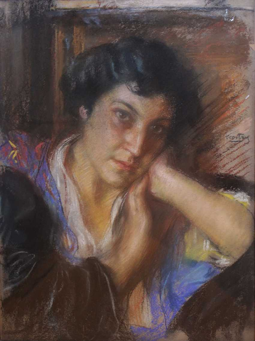 Carlo Wostry (1865-1943), Portrait of a lady, signed centre right - photo 2