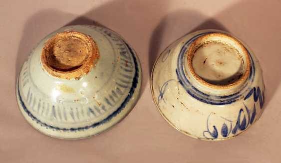 A lot of 6 Chinese porcelain objects including bowls, boxes and rolls - photo 3