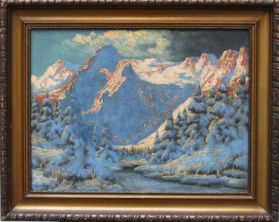 Laszlo Neogrady (1896-1962), Winter landscape in the mountains - photo 1