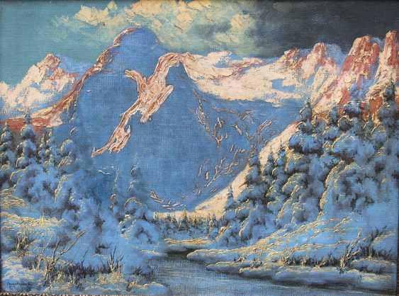 Laszlo Neogrady (1896-1962), Winter landscape in the mountains - photo 2