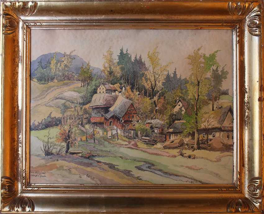 Karel Toman (1877-1946), View of a village - photo 1