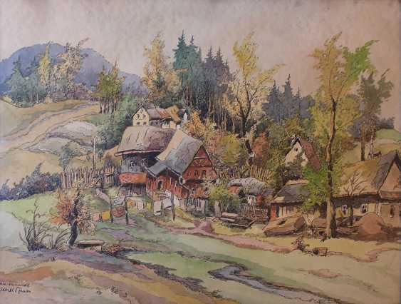 Karel Toman (1877-1946), View of a village - photo 2