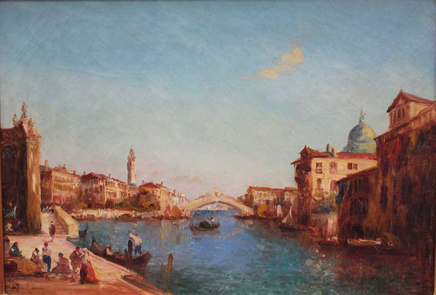 Alfred Bachmann (1880-1964), View of Venice with the Rialto bridge - photo 2