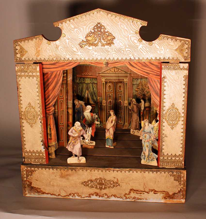 A Children miniature theatre with stage - photo 3