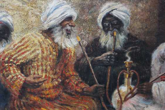 Orientalist early 20th Century, Smoking the water pipe - photo 2