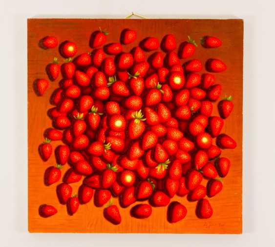 Chinese artist, Pair of still lives with tomatos and strawberries - photo 2