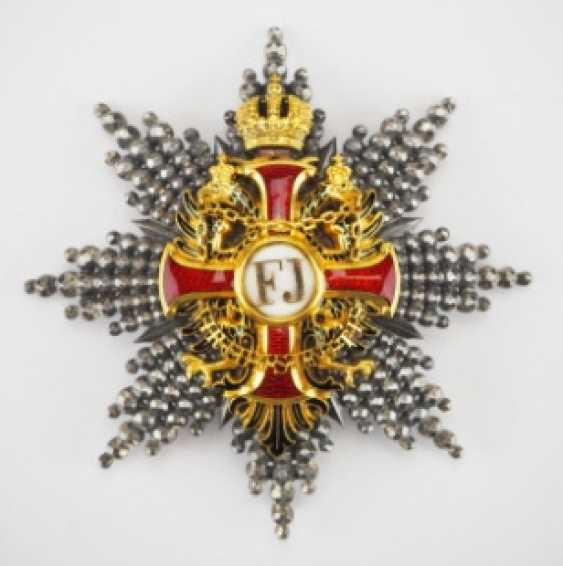 Austria: Imperial Austrian Franz-Joseph-Order, Grand Cross Star, 1. Type (1849-1872) - photo 1