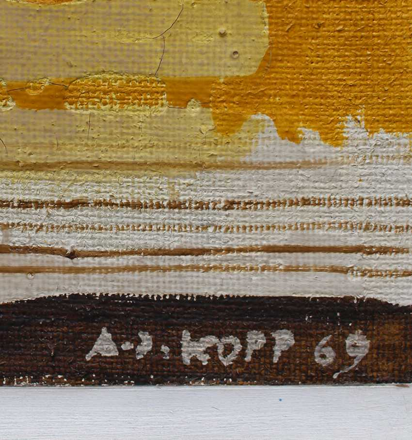 Artist around 1970, Fantastic composition, oil on board - photo 3