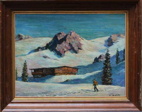 Austrian artist 20th Century, Skiing in the alps - photo 1