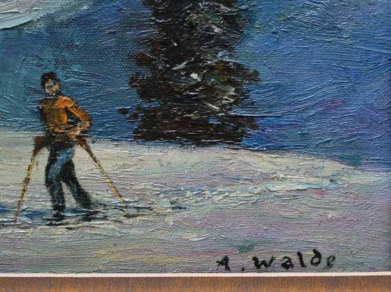 Austrian artist 20th Century, Skiing in the alps - photo 3