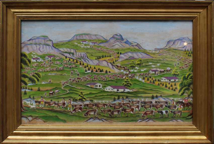 Johann Ulrich Kenchtli (1845-1925), upper plateau, watercolour on paper - photo 1