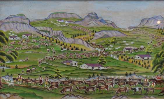 Johann Ulrich Kenchtli (1845-1925), upper plateau, watercolour on paper - photo 2