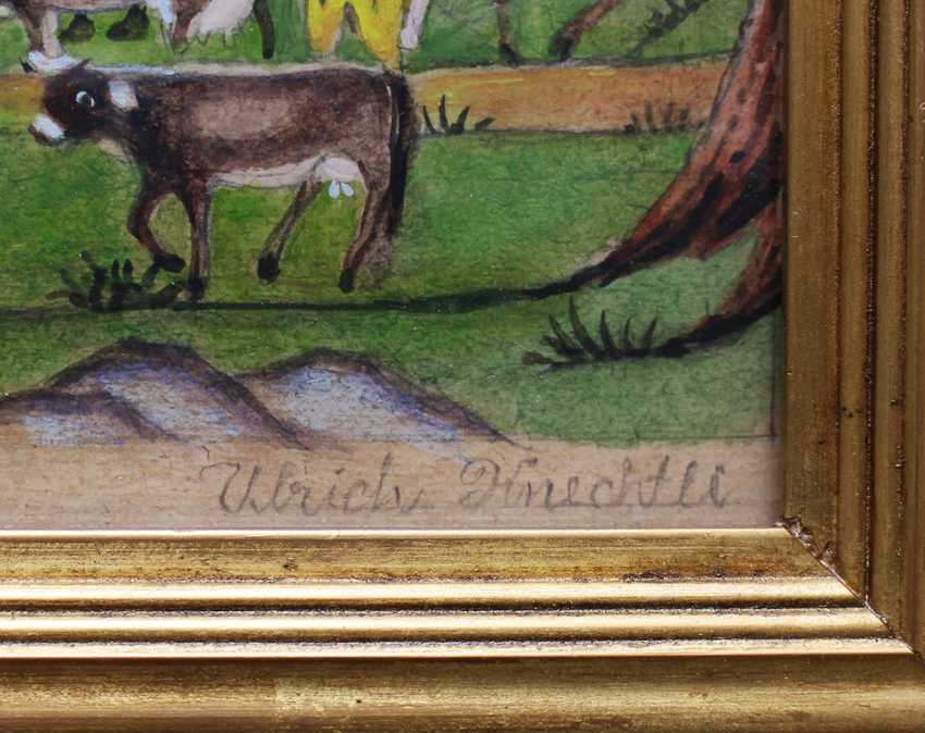 Johann Ulrich Kenchtli (1845-1925), upper plateau, watercolour on paper - photo 3