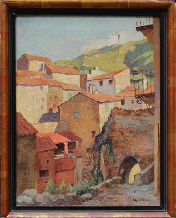 Auguste Herbin (1882-1960)-attributed, Street in a Southern French village - photo 1