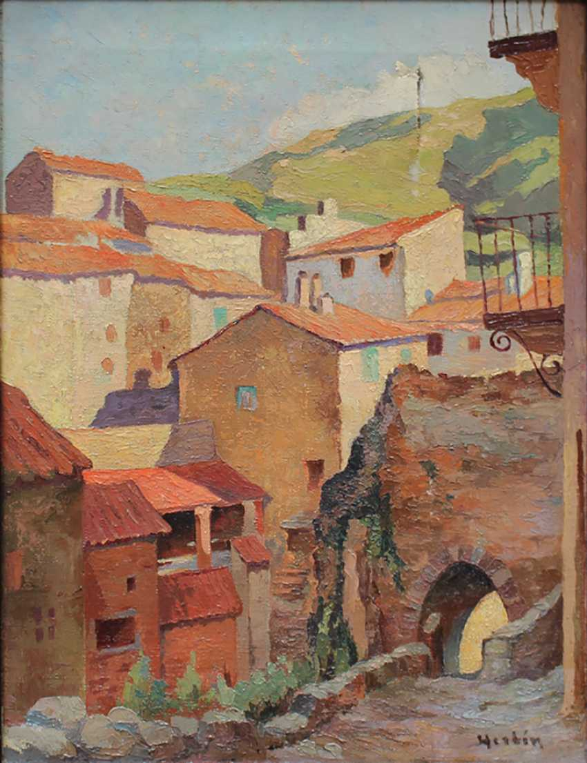 Auguste Herbin (1882-1960)-attributed, Street in a Southern French village - photo 2