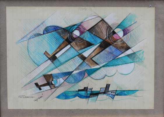 Futurist around 1920/30, Planes and ships - photo 2