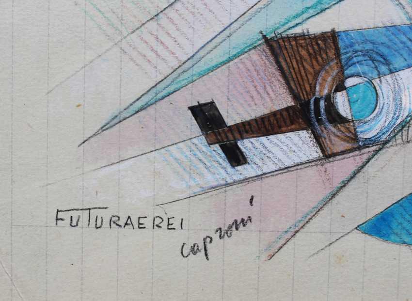 Futurist around 1920/30, Planes and ships - photo 3