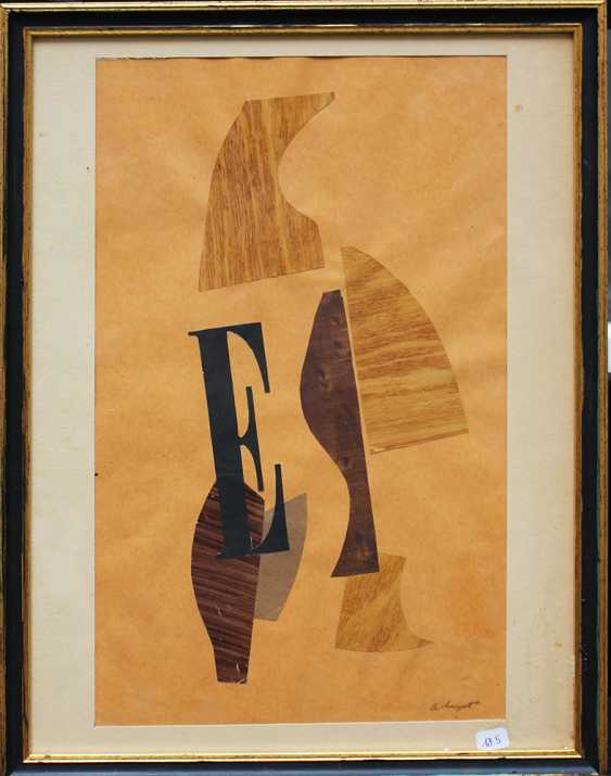Albert Huyot (1872-1968), Composition E, collage with cut and coloured paper, on paper - photo 3