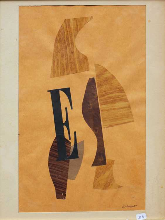 Albert Huyot (1872-1968), Composition E, collage with cut and coloured paper, on paper - photo 1