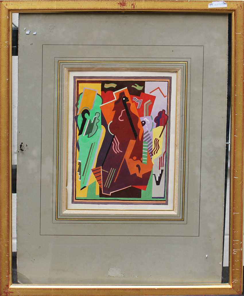 Albert Gleizes (1881-1953), Cubistic composition, watercolour or poster paint, on paper - photo 1
