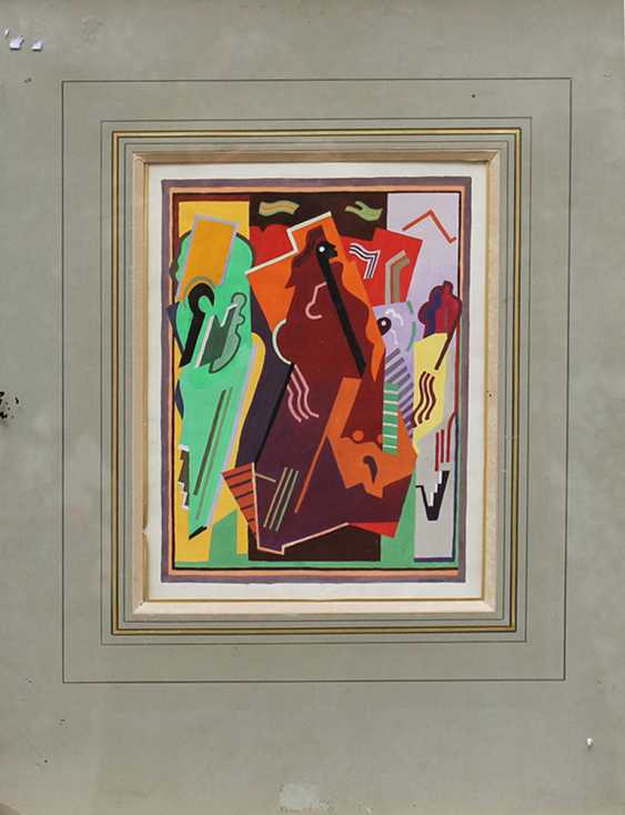 Albert Gleizes (1881-1953), Cubistic composition, watercolour or poster paint, on paper - photo 2