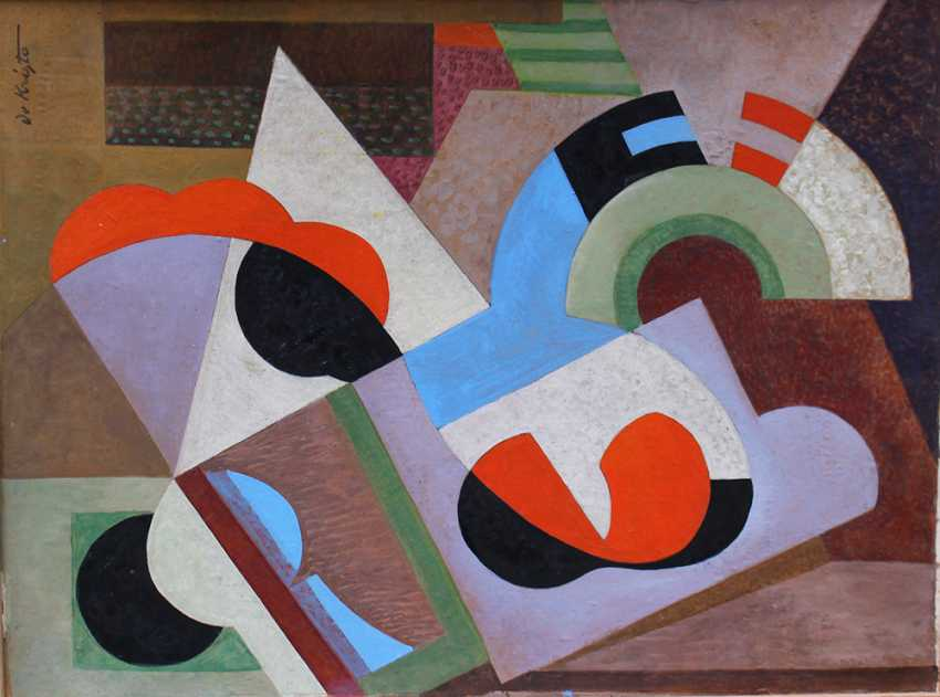 Bela De Kristo (1920-2006), Cubistic composition around 1950 - photo 2