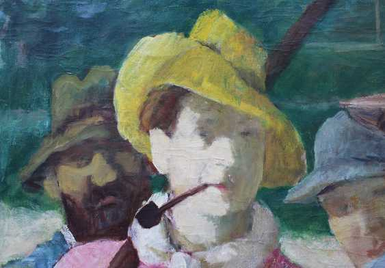 Gedo Lipot (1887-1952), Polo players, oil on canvas, signed bottom right, framed - photo 2
