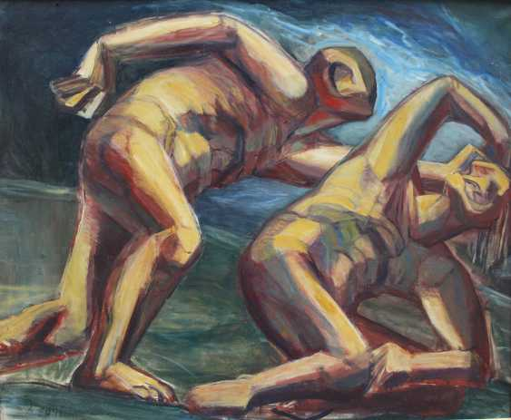 Achille Funi (1890-1972)-attributed, Two male nudes in landscape - photo 2