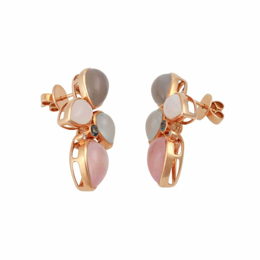 Pair of earrings with precious stones: - photo 2