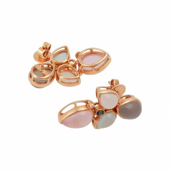 Pair of earrings with precious stones: - photo 3
