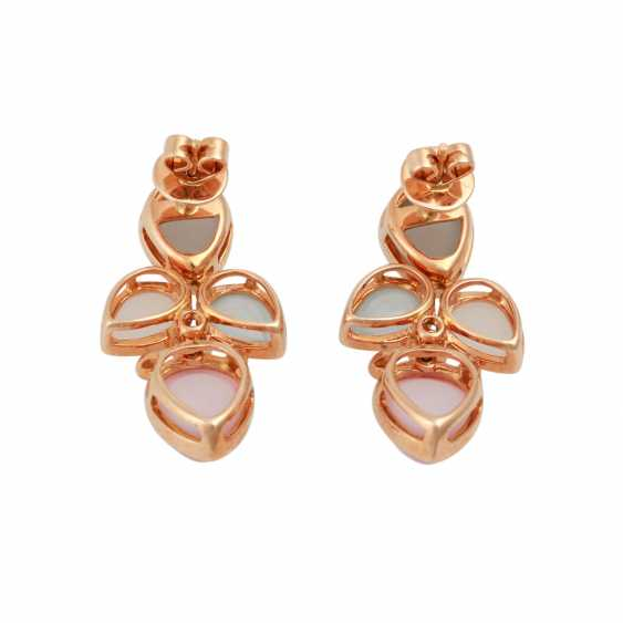 Pair of earrings with precious stones: - photo 4