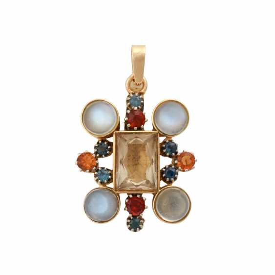 Pendant with 4 round moonstone cabochons, - photo 1