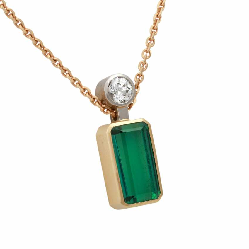 Pendant with green tourmaline - photo 2