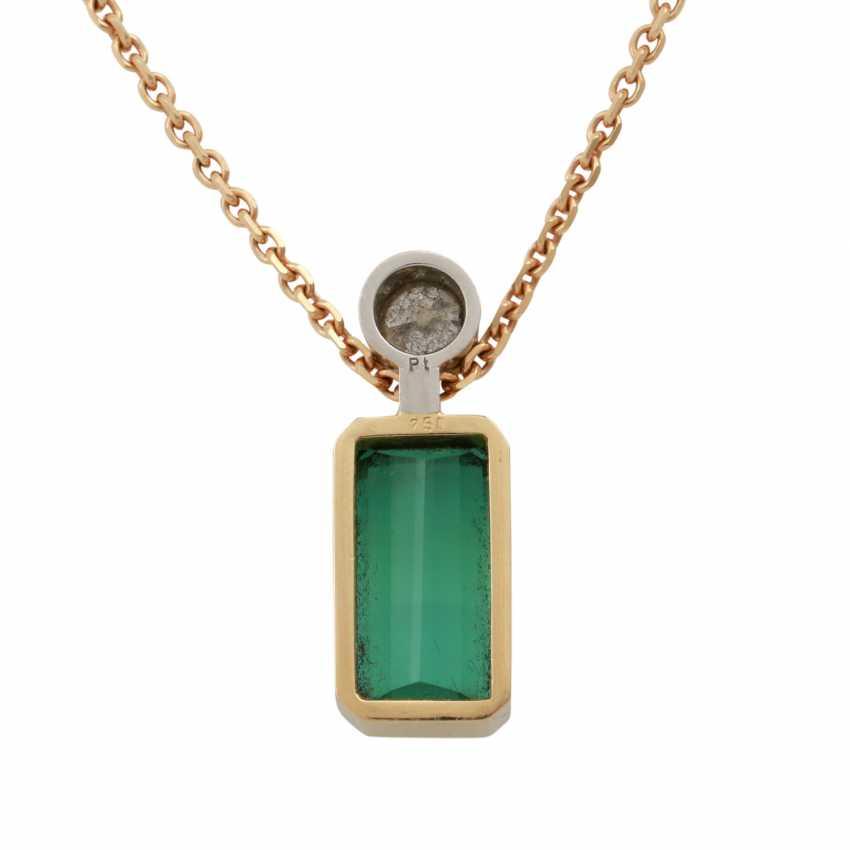Pendant with green tourmaline - photo 3