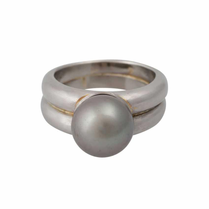 Ring with Tahiti pearl, - photo 1