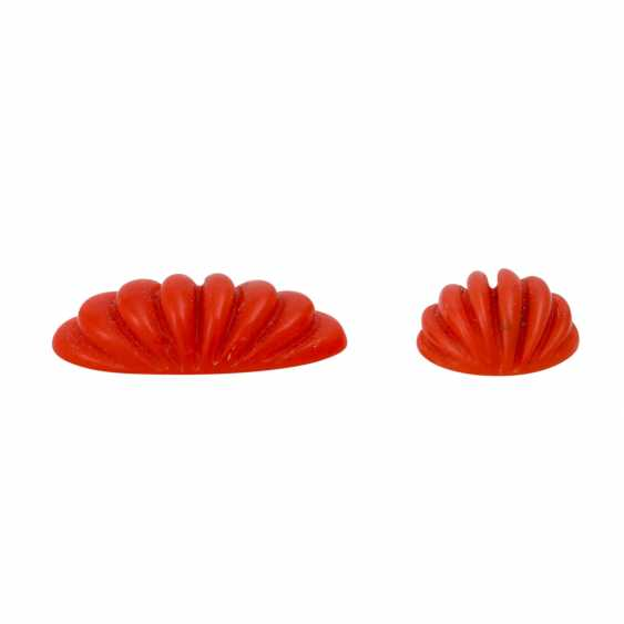 Set of 3 engraved coral, - photo 4
