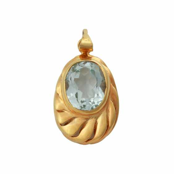 Pendant with aquamarine, approx. 3 ct, - photo 1