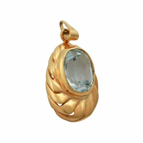 Pendant with aquamarine, approx. 3 ct, - photo 2