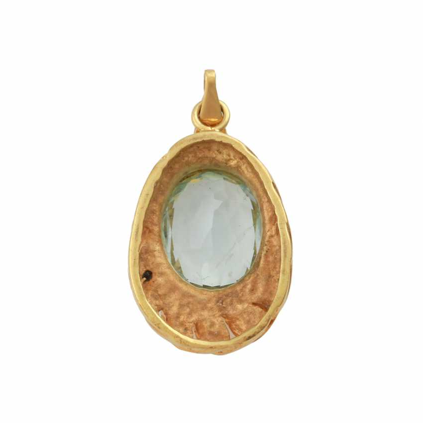 Pendant with aquamarine, approx. 3 ct, - photo 3
