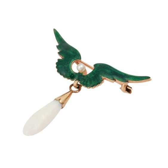 Brooch with opal drops - photo 4