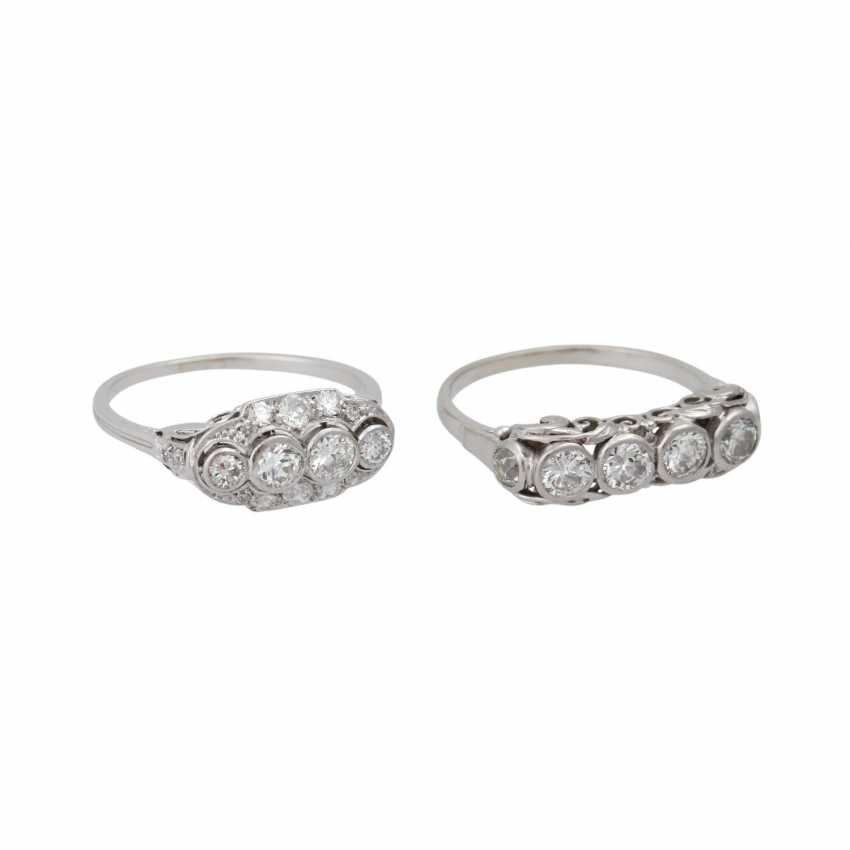 Mixed lot of 2 Art Deco rings with diamonds - photo 2